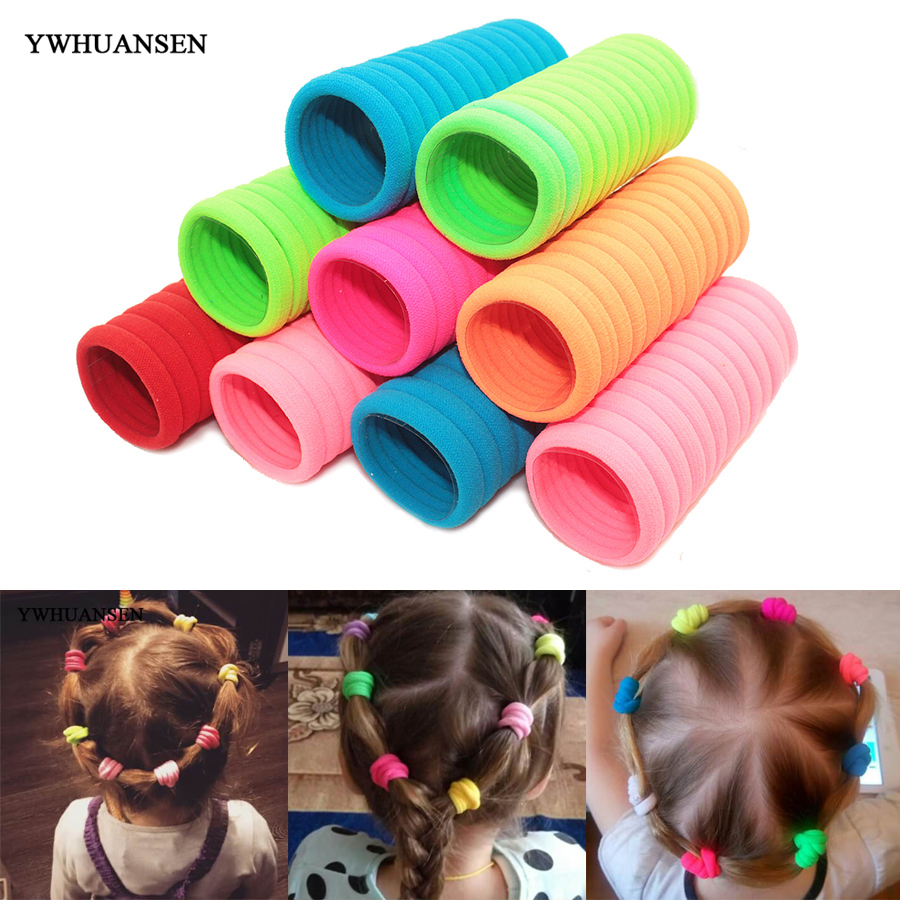 40 PCS Hair Accessories For Girls Scrunchies Elastic Hair Bands Children Gum For Hair Ties Girls Baby Hair Accessories