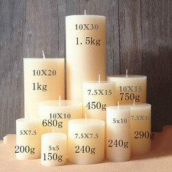Filar canlde formy cylindryczne formy świec ślubnych styl europejski DIY świece formy z gumy silikonowej
