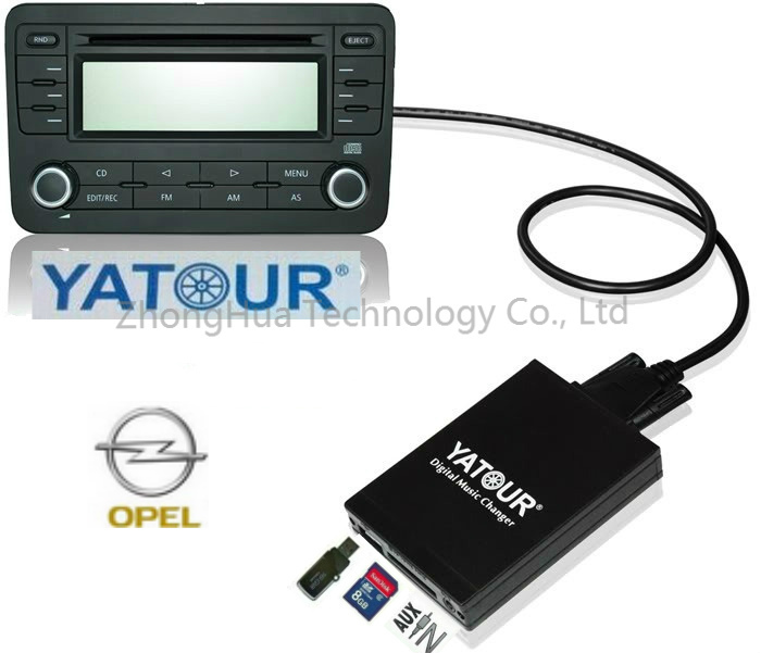 Yatour Car Audio Adapter MP3 player for Opel Astra H Astra J corsa zafira Captiva Digital music Changer AUX USB SD interface yatour car digital cd music changer usb mp3 aux adapter for opel vauxhall holden 2006 2010 antara astra h j corsa combo vectra