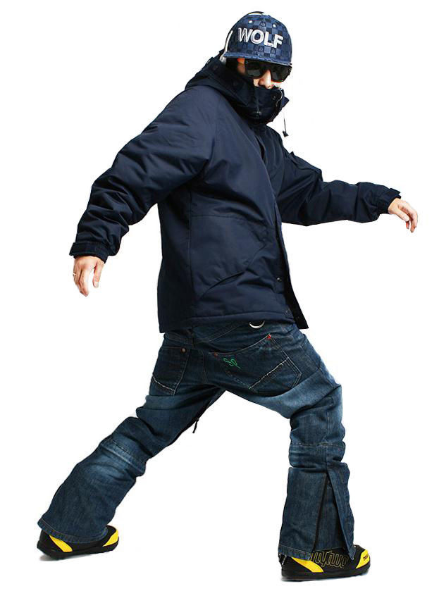 New Edition ''South play'' Winter Waterproof 10,000mm Suit (Jacket + Denim Pants)Sets - Navy Military