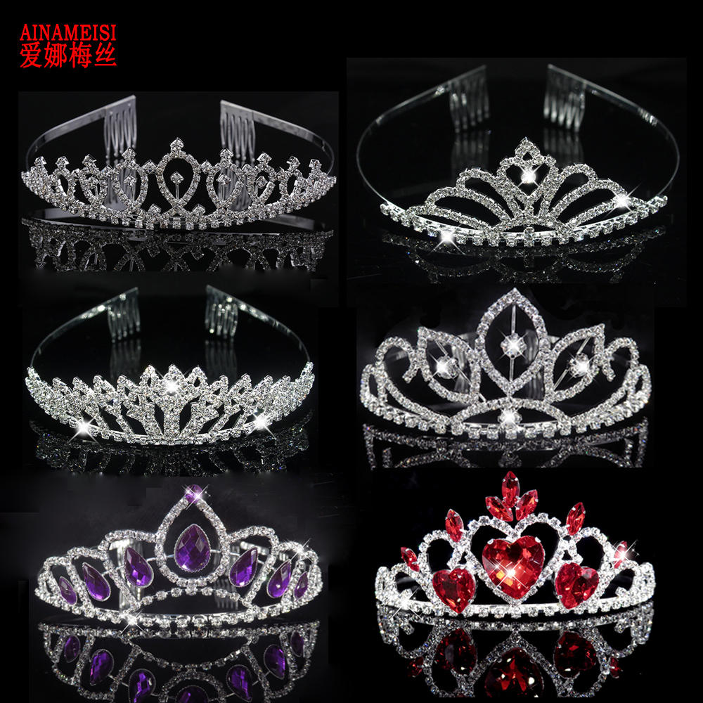 AINAMEISI Fashion Tiaras and Crowns Hair Band Women Wedding Crown Bride Accessories Jewelry Headband Hoop Tiara For Lovely Girls