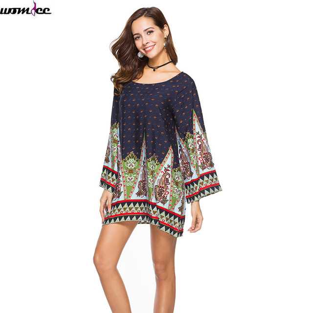 Womdee 2018 New Arrival Bohemian Women Spring Autumn Long Sleeves