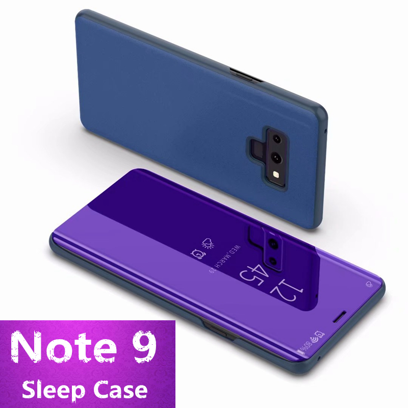Note 9 Case for Samsung Galaxy Note 9 Sleep Case for Samsung S9 plus for Galaxy S9 Flip Awaken Case Mirror Stand Cover Fundas