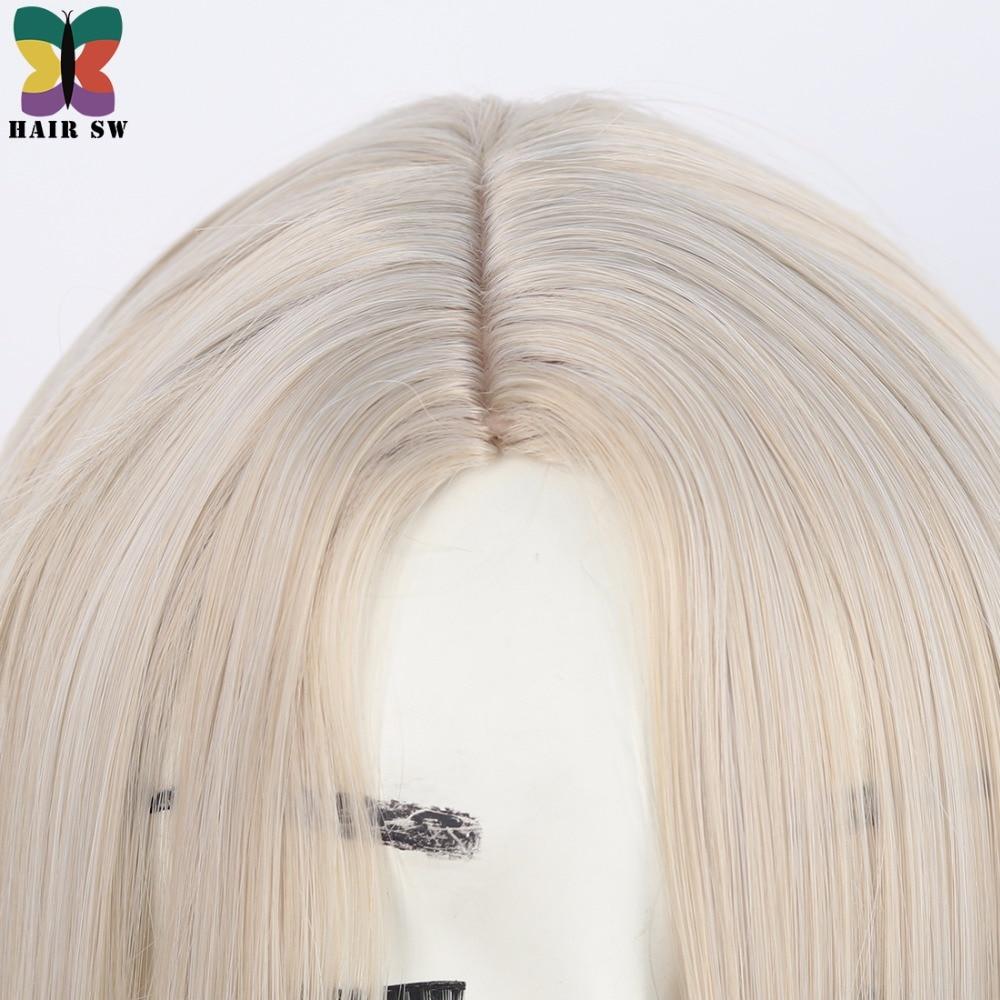 Lång på Ice Childhood Wig Cospaly Blond Syntetisk COS Tecken Wig - Syntetiskt hår - Foto 5