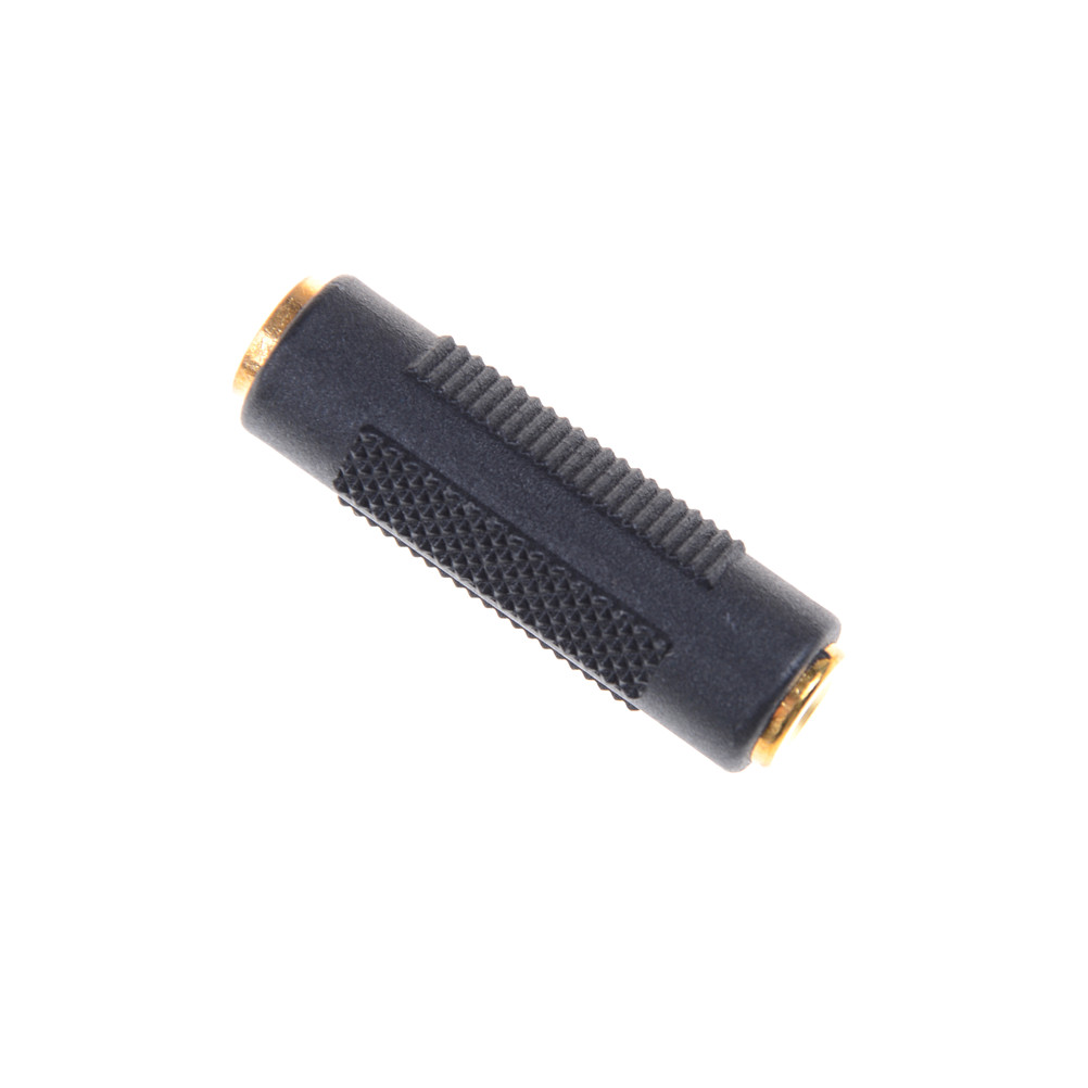 Gold Plated 3.5 Mm Female To 3.5mm Female Jack Stereo Coupler Adapter