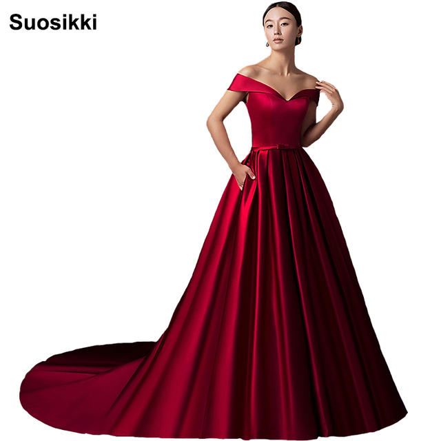 Suosikki 2017 Newest Sweep Train Evening Dress Long Sleeveless Formal Prom  Party Ball Gown Lace up elegant women dress dresses a0b82592921e