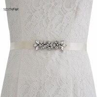 S330 כלה חגורות מותן תבנית לשמלת כלה Rhinestones במבטא יהלומים פרחוני כלה אבנט מסיבת ערב