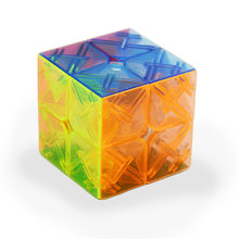 YJ 2x2x2 Hız Sihirli Küp Stickerless 3D Bulmaca Büküm Oyuncak Pürüzsüz 50mm Şeffaf Beyin Teaser profesyonel Yarışma IQ Oyunu ABS