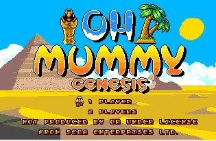 OH Mummy 16 bit MD Game Card For Sega Mega Drive For SEGA Genesis