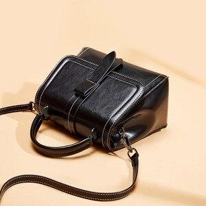 Image 5 - Zency Retro Brown Women Tote Handbag 100% Genuine Leather Daily Casual Shopping Messenger Shoulder Bag Luxury Dark Red Black