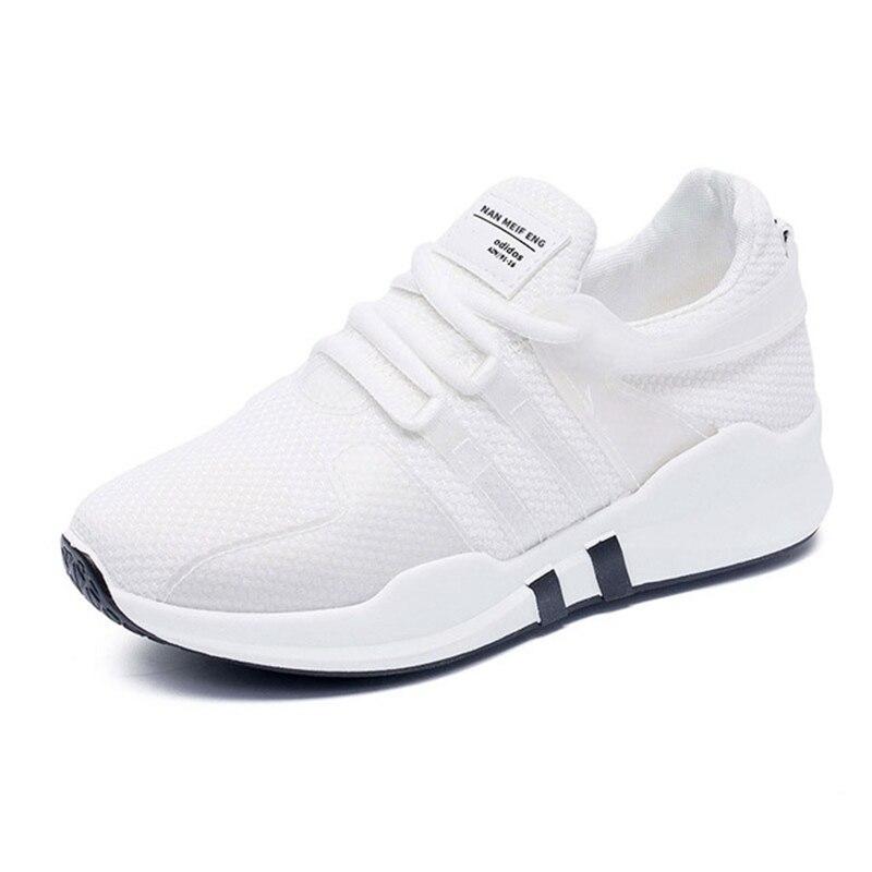 US $14.67 47% OFF Damskie buty sportowe 2019 Hot sprzedaży trampki buty do biegania wygodne sznurowane oddychająca siatka damskie buty Buty do