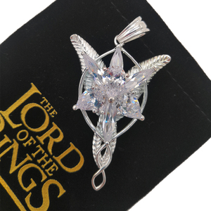 Image 5 - High Quality LOTR S925 Sliver Arwen Evenstar Pendant Necklace Valentines Day Gift for Girlfriend Girl Women Sliver Jewelry