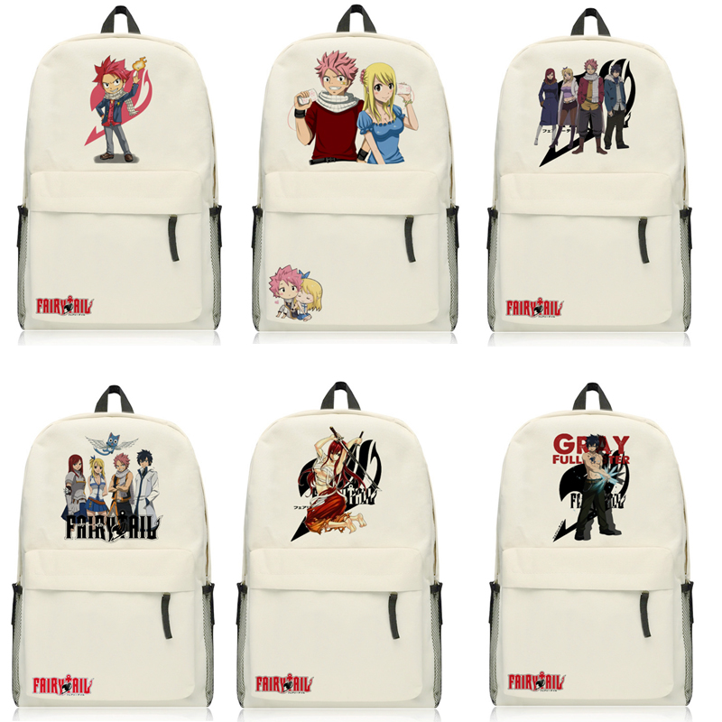 Anime Fairy Tail Natsu Backpack Cartoon Bags Oxford Student School Bag Unisex anime fairy tail backpack student cartoon school bags canvas travel backpacks durable teenager daily bag