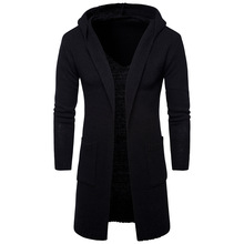 New Fashion 2016 Men Autumn thick Hooded sweaters,Fashion casual Cardigan Sweater Knitwear Style Sweater men Black Slim Coat
