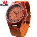 2016 hombres Baratos Relojes Banda de Cuero Marrón Genuino del Zurriago Con Caja De Madera De Madera Relojes de Marca de Lujo Para Hombre Reloj regalo