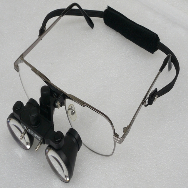 2.5X Galileo Medical Binocular Dental Loupes Wearing Style Surgical Magnifying Magnifier Glasses For Microsurgery Dentistry