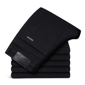 Image 4 - 2019 Zwart Grijs Merken Jeans Broek Mannen Kleding Zwarte Jeans Fashion Casual Klassieke Stijl Elastische Kracht Skinny Broek Mannelijke