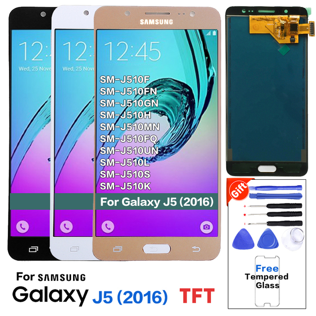 For Samsung Galaxy J510 J510FN J510F J510G J510Y J510M Display Touch Screen Digitizer Assembly For Samsung J5 2016 LCD Screen