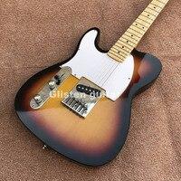 左利きtlサンバーストエレキギター、カスタムギター