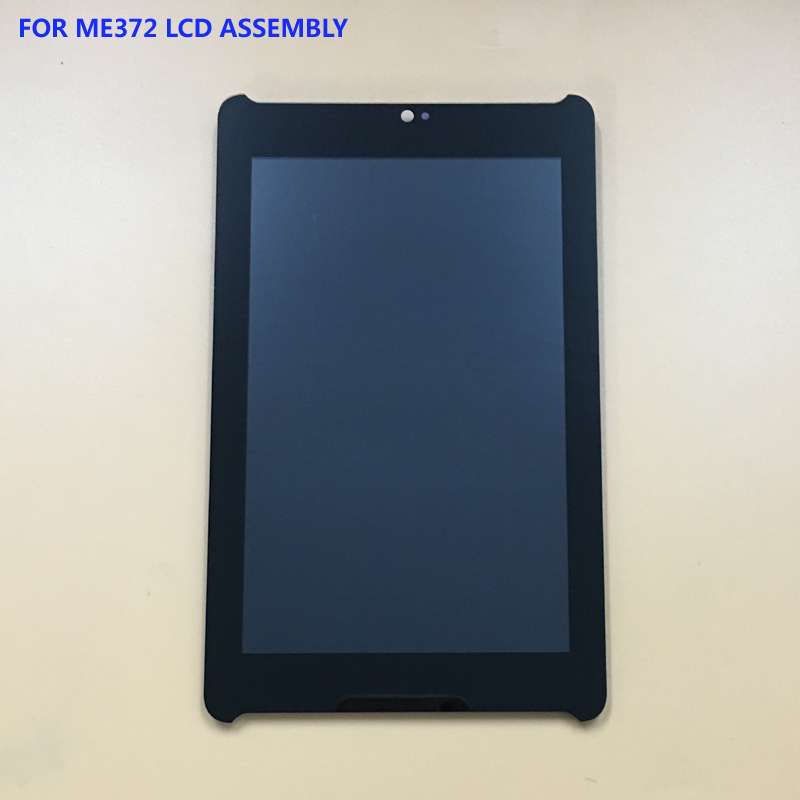 For Asus Fonepad 7 ME372 ME372CG Black Touch Screen Digitizer Glass + LCD Display Panel Assembly 7 inch for asus fonepad 7 me372cg lcd display touch screen with digitizer assembly complete free shipping