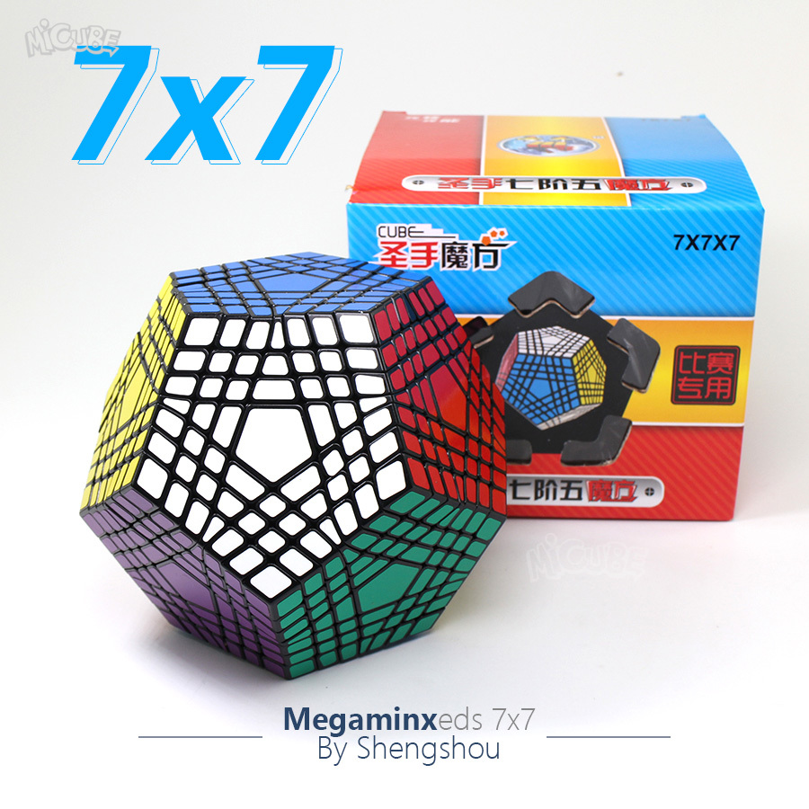 Shengshou Megaminxeds 7x7x7 Teraminx Cube magique Puzzle 7x7 professionnel Dodecahedron Cube Twist Puzzle jouets éducatifs