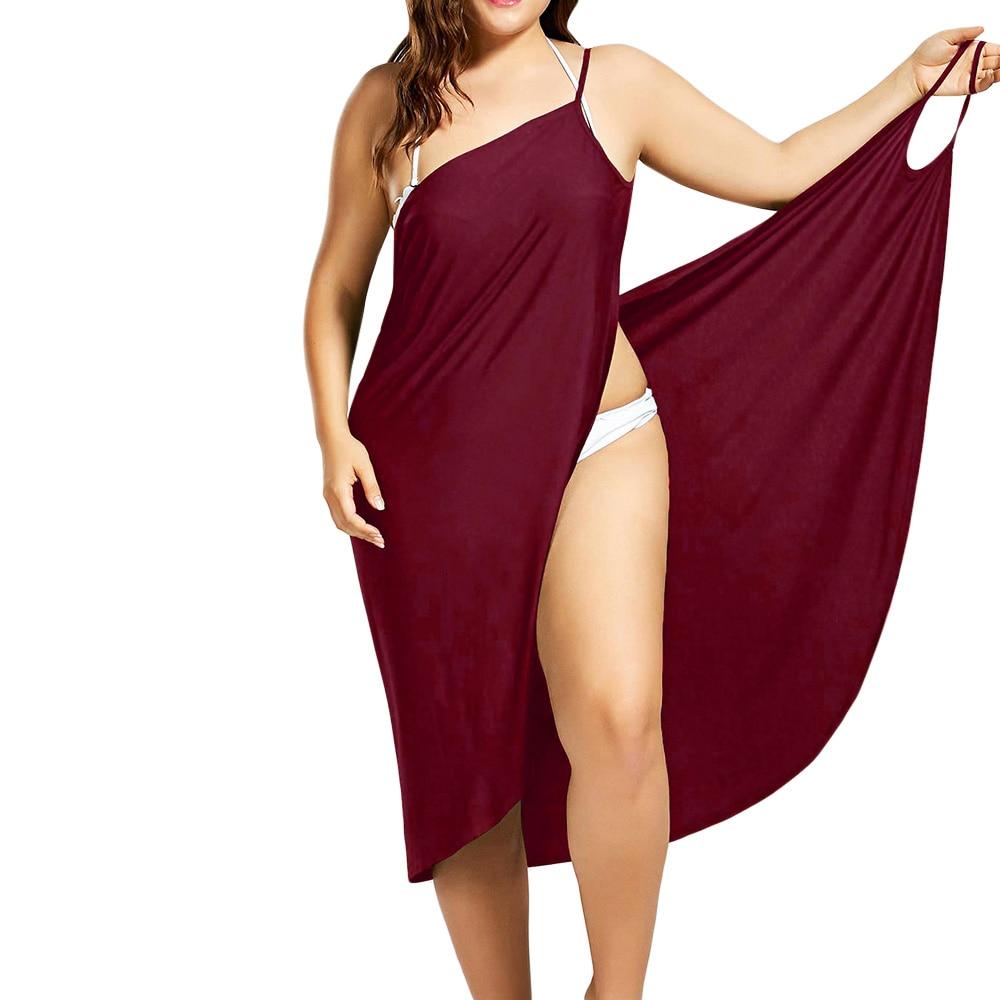 Plus Size Pareo Beach Cover Up Wrap Dress Bikini Swimsuit Bathing Suit Cover Ups Robe De Plage Beach Wear Tunic kaftan Swimwear 5
