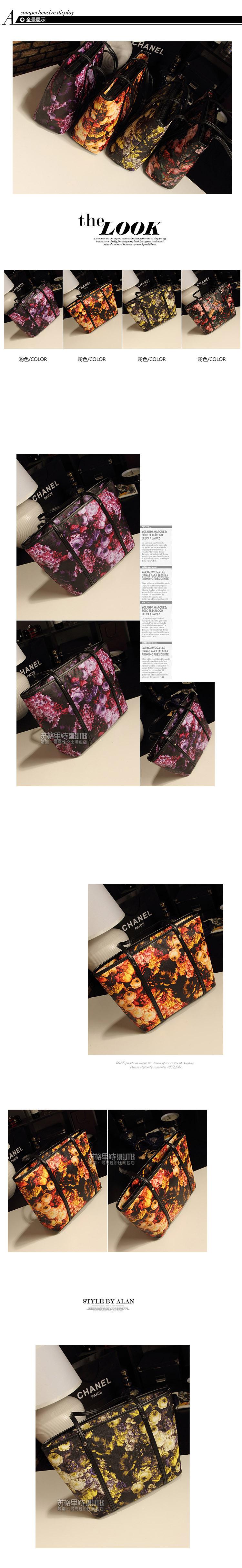 2018 new retro big bag Korean fashion ladies bag shoulder bag oil painting bag factory delivery 7