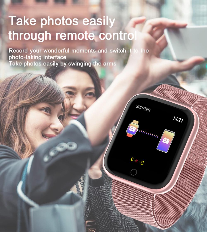 Reloj inteligente impermeable T80 Bluetooth 10
