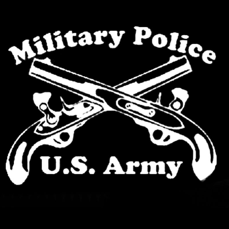 20.3CM*15.6CM Military Police Cross Pistols With Car Styling Accessories Motorcycle Car Sticker And Decals Black Silver C8-1308