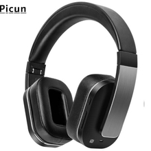 цены на Picun F9 Bluetooth Wireless Headset Bluetooth Headset Leather Stand Metal Case Headphone Microphone Connect Mobile Phone  в интернет-магазинах