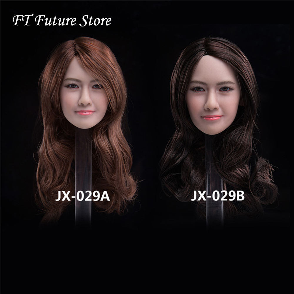 Collectible 1/6 Scale Asian Beauty Head Carving Yoona Micro expression Head Carved Model for 12'' Action Figure Body Accessory