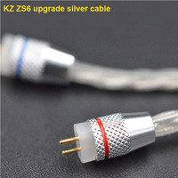 KZ ZST Pro 0 75mm 2 Pin 2 PIN Upgrade Repair Silver Plated Braided Cables For