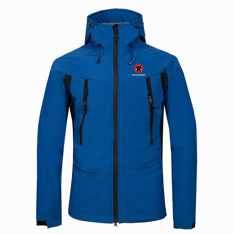 Waterproof Outdoor Soft-shell Jacket Winter Outdoor Fleece Keep Warm Waterproof Windproof Skiing Jacket Men Anti-sweat Jacket