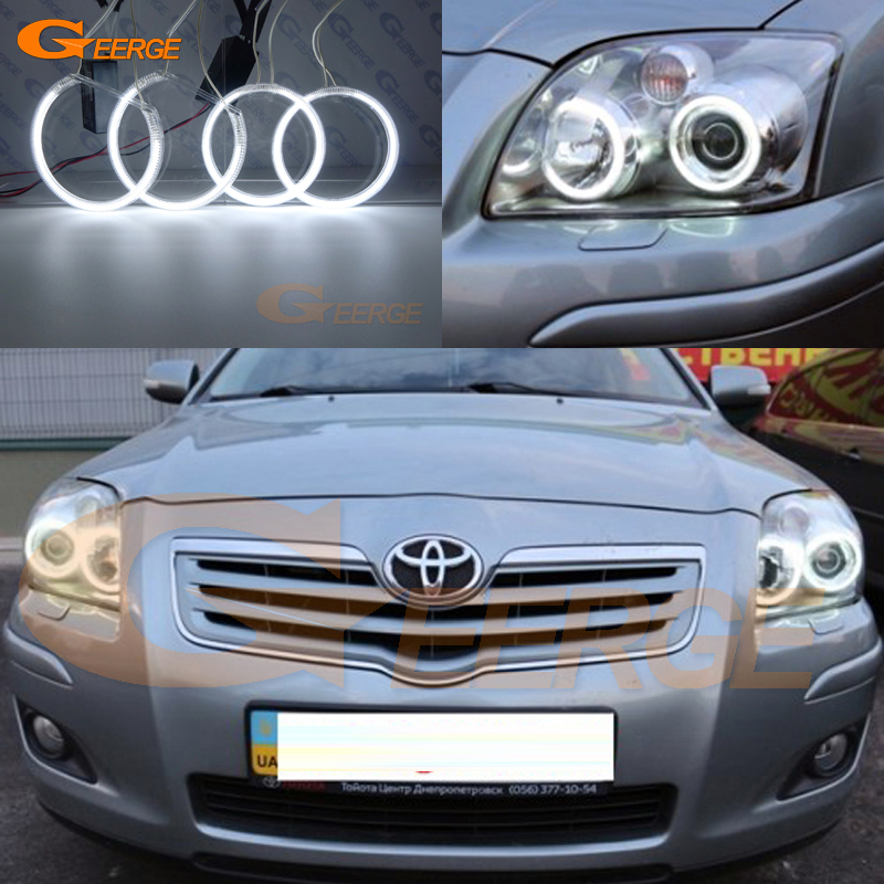 For Toyota Avensis T25 2006 2007 2008 2009 Excellent Ultra bright illumination CCFL Angel Eyes kit Halo Ring for chrysler sebring 2007 2008 2009 2010 headlight excellent ultra bright illumination ccfl angel eyes kit halo ring