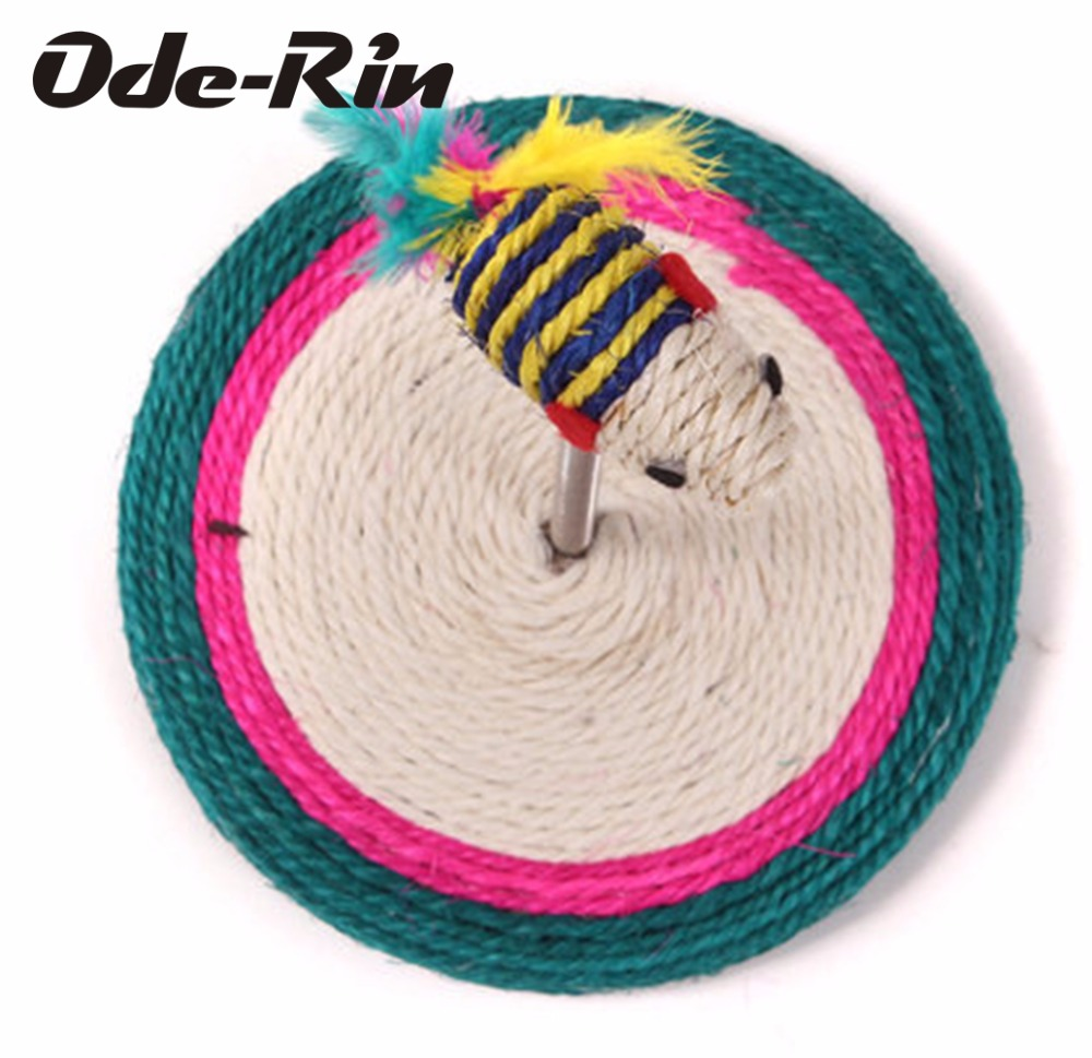 Ode-Rin The new funny cat toys Spring rat sisal cat scratch board Pet toys pet Resistant to bite products for cat soft