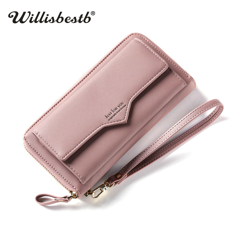 2018 New Hasp Women Wallets Female Purses And Long Luxury Zipper Phone Pocket Leather Clutch Woman Wallet Lady Purse Card Holder as16 12 myo2 top fashion luxury diamond african handbag purse for party wedding