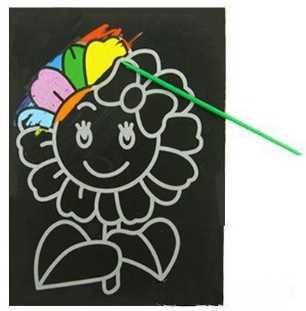 1 шт. Детские Волшебные скретч-арт коврик для рисования карты обучающие игры игрушки Раннее Обучение Рисование Игрушка, случайный 1 шт. дизайн S