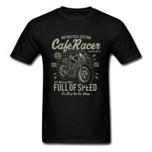 Cafe Racer Full of Speed Vintage Motorcycle T Shirt Retro Motorbike Auto Game New Tshirts Rider Biker Cool Tshirt Oversize