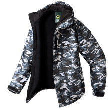 New Edition SouthPlay Men's Waterproof 10,000mm Winter Season Warming Gary Military Jacket