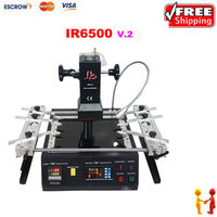 Freeshipping Infrared BGA Rework Station LY IR6500 IR Rework System Infrared Soldering Machine Better Than IR6000