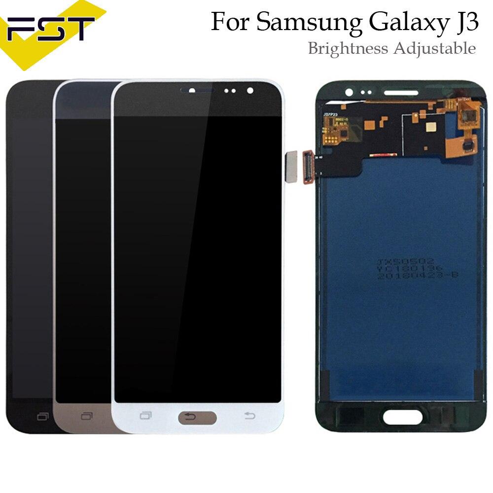Régler la Luminosité pour SAMSUNG J3 2016 Affichage J320 J320F J320FN LCD Écran Tactile Digitizer pour SAMSUNG Galaxy J3 2016 Affichage