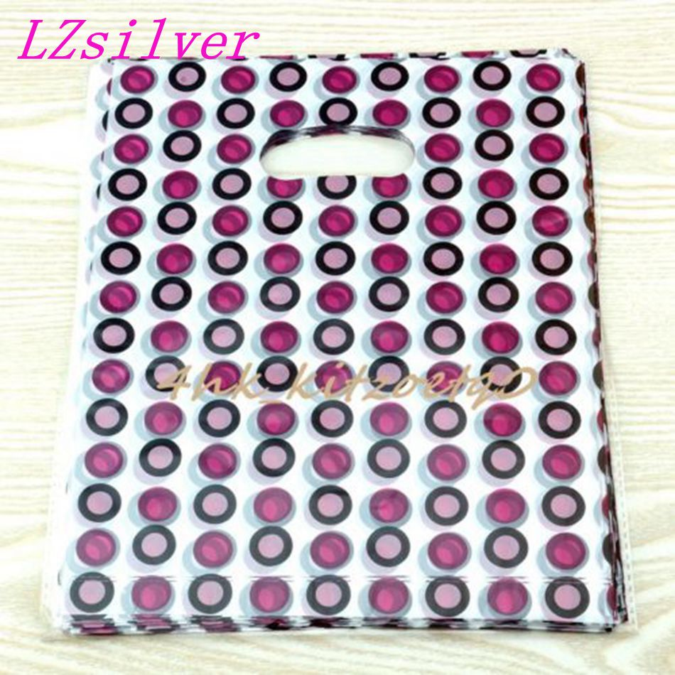 Jewelry Pouches .100pcs Circle Plastic Bags Jewelry Gift Bag 20 X 25cm L015