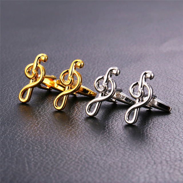 Musical Music Note Cufflink For Men