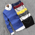 high quality cotton sexy v-neck pure color men sweater casual long sleeve man pullover knitwear spring nearly any occasion