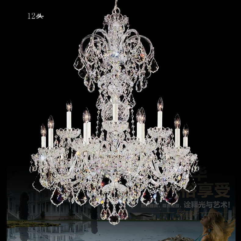 Extra Long Large Chandelier Crystal Res De Cristal White Candle Holders Lamp Living Room Hotel Light Candelabro In Chandeliers From Lights