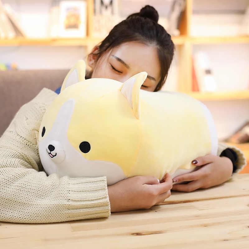 Hot 1 pc 60 cm Bonito Corgi Dog Plush Toy Stuffed Animal Macio Travesseiro Lindo Presente Dos Desenhos Animados para Crianças Kawaii presente dos namorados para As Meninas