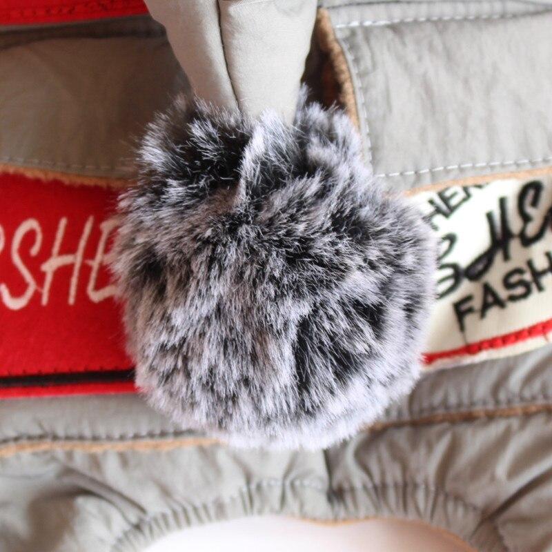 Зимний флисовый комбинезон для собак, лыжная одежда, куртка с хлопковой подкладкой для собак и кошек, пальто, одежда для домашних животных, теплая одежда для собак и щенков, комбинезон с капюшоном-5