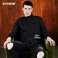 VIISHOW Men Jackets Jackets and Coats Male Clothing Casual Cotton Men Bomber Jackets Black JC1668171
