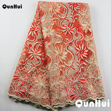 098cea08abd3 2017 Selling High Quality French African lace Fabric with Stones Embroidery  peach swiss lace fabric for