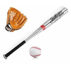 1 juego saludable deporte béisbol suave bate guante y pelota Set para niños 61cm Softball guante para niños juguetes deportivos educativos regalo